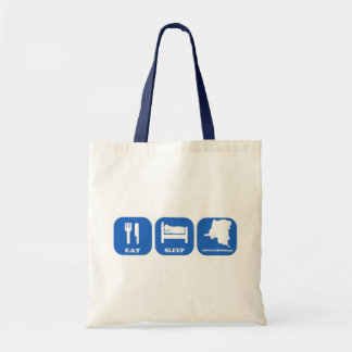 Eat Sleep Congo Kinshasa Canvas Bag