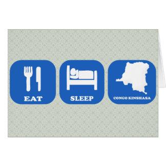 Eat Sleep Congo Kinshasa Greeting Card