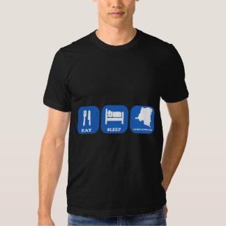 Eat Sleep Congo Kinshasa Tee Shirts