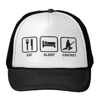 Eat Sleep Cricket Hats