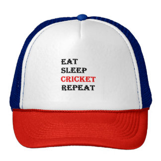 Eat Sleep Cricket Repeat Cap