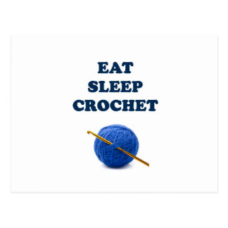 Eat Sleep Crochet Postcard