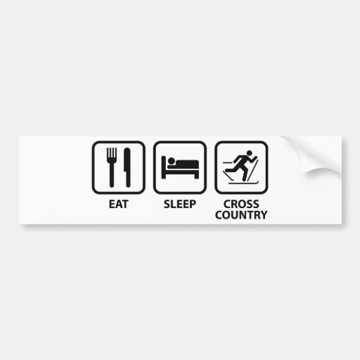 Eat Sleep Cross-Country Bumper Sticker