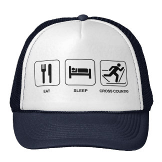 Eat Sleep Cross Country Cap