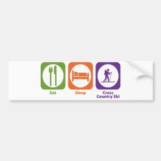 Eat Sleep Cross Country Ski Bumper Sticker