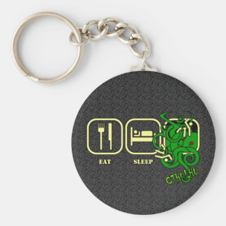 Eat - Sleep - Cthulhu Keyring Basic Round Button Key Ring