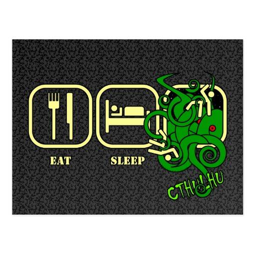 Eat - Sleep - Cthulhu Postcard