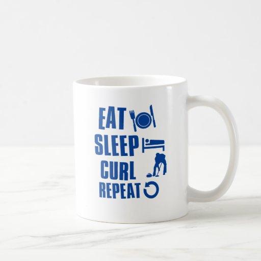 Eat sleep Curl Coffee Mug