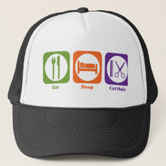 Eat Sleep Cut Hair Trucker Hat