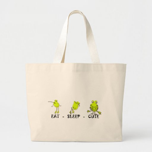 Eat Sleep Cute Frog Bag