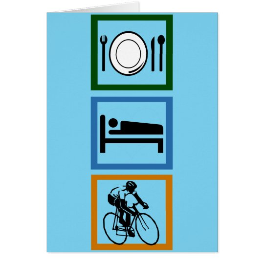 Eat Sleep Cycle Cyclist Card