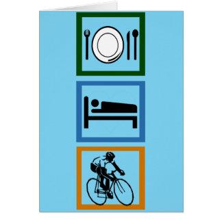 Eat Sleep Cycle Cyclist Greeting Card