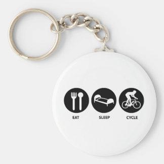 Eat Sleep Cycle Key Ring