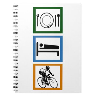Eat Sleep Cycling Spiral Notebook
