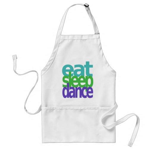 eat sleep dance aprons