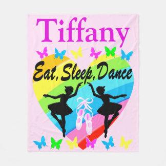 EAT, SLEEP, DANCE BALLERINA PERSONALIZED BLANKET