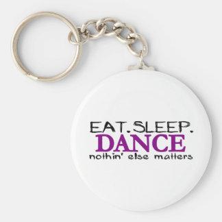 Eat Sleep Dance Basic Round Button Key Ring