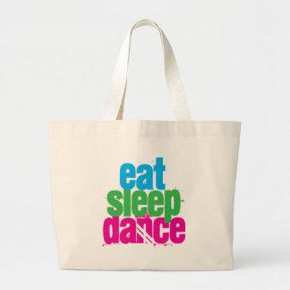 Eat, Sleep, Dance Jumbo Tote Bag
