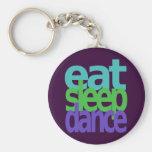 eat sleep dance key chains
