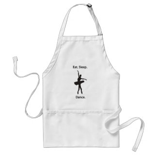 Eat sleep dance standard apron