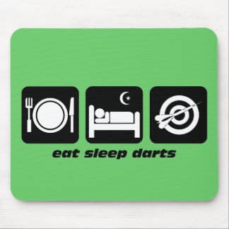 Eat sleep darts mouse pad