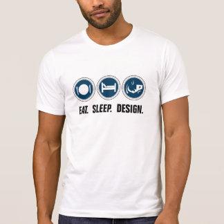 Eat Sleep Design (blue) T-Shirt