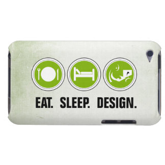 Eat Sleep Design (green) Barely There iPod Cases