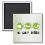 Eat Sleep Design (green) Refrigerator Magnet