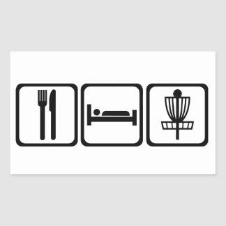 Eat, Sleep, Disc Golf Sticker