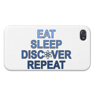 Eat Sleep Discover Repeat iPhone 4 Cover
