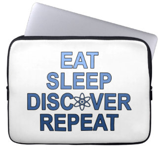 Eat Sleep Discover Repeat Computer Sleeve