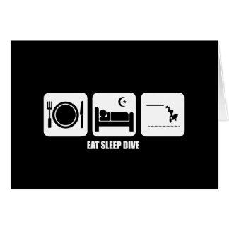 eat sleep dive greeting card