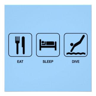 Eat Sleep Dive Invitation