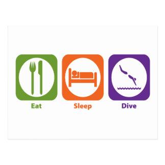 Eat Sleep Dive Post Card