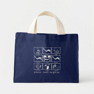 Eat Sleep Dive Rinse and Repeat Mini Tote Bag