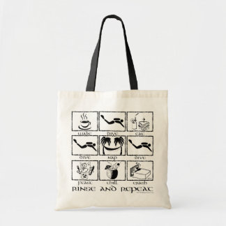 Eat Sleep Dive Rinse and Repeat Tote Bag
