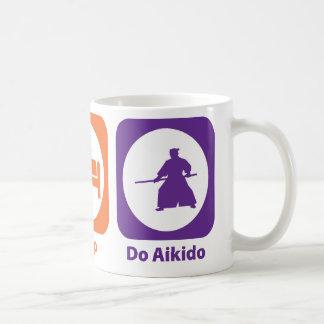 Eat Sleep Do Aikido Basic White Mug