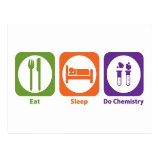 Eat Sleep Do Chemistry Postcards