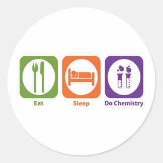 Eat Sleep Do Chemistry Round Sticker