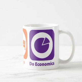 Eat Sleep Do Economics Coffee Mugs