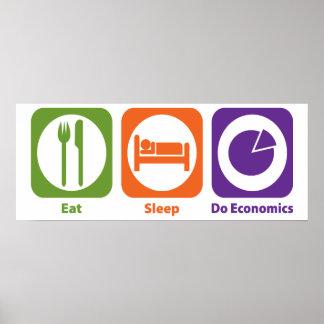 Eat Sleep Do Economics Poster