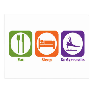 Eat Sleep Do Gymnastics Postcard