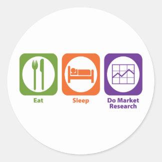 Eat Sleep Do Market Research Classic Round Sticker