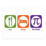 Eat Sleep Do Math Post Cards