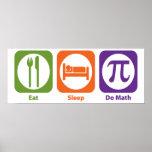 Eat Sleep Do Math Print