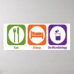 Eat Sleep Do Microbiology Posters