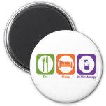 Eat Sleep Do Microbiology Refrigerator Magnet