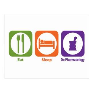 Eat Sleep Do Pharmacology Postcard