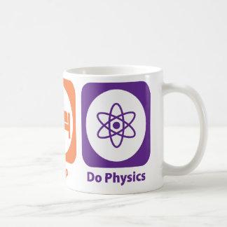 Eat Sleep Do Physics Basic White Mug