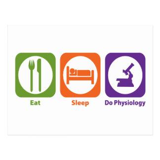 Eat Sleep Do Physiology Post Card